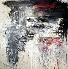 "Jon Leach - ""Sohn"", Painting, Oil, oil stick, charcoal, collage element, , 2009"