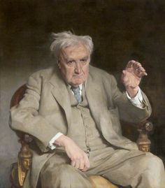 Dr Ralph Vaughan Williams (1872–1958)  by Gerald Festus Kelly  Glasgow Museums        Date painted: 1959      Oil on canvas, 95.9 x 87.3 cm      Collection: Glasgow Museums