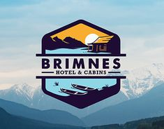 Freelance branding project for Brimnes Hotel and Cabins in Iceland.
