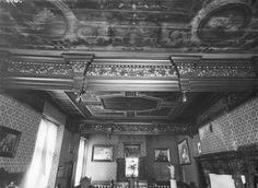 Kasteel Bleijenbeek, plafond voorkamer 1e etage westvleugel (september 1919) Ancestry, September, Castle, Louvre, Tower, Study, Ceiling, Rook, Studio