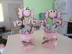 centro de mesa buho Owl Party Decorations, Harry Potter Party Decorations, Birthday Party At Home, Baby Girl First Birthday, Birthday Celebration, Baby Shawer, Baby Owls, Foam Crafts, Diy Crafts