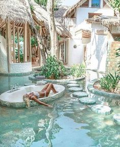 21 beautiful ideas for the design of the swimming pool garden 4 - Reisen - # . Oh The Places You'll Go, Places To Travel, Travel Destinations, Holiday Destinations, Pool Garden, Garden Art, Dream Pools, Pool Designs, Backyard Designs