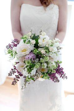 pretty hand tied bridal bouquet from @FlowerBugDesign