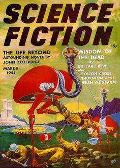 Sci Fi Comic Book Cover Reproduction Print Vintage Science