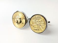 "Thanks for the kind words! ★★★★★ ""Item came exactly as described and looks amazing! Item also came very quickly. "" Tim F. https://etsy.me/2u022WM #etsy #weddings #jewellery #gold #unisexadults #cufflinks #bitcoin #goldcufflinks #cryptocurrencies #bitcoincufflinks"