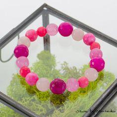 FREE SHIPPING Pink Stretch Bracelet made with by MadeByMarchewka