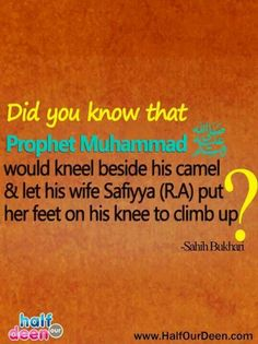 This is why it upsets me when ignorant people say bad things about the prophet Muhammad (pbuh). He was a great person.