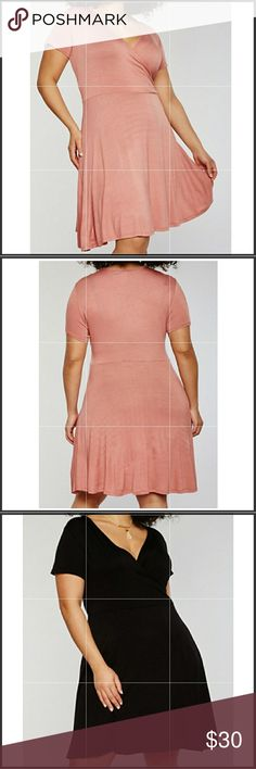 COMING SOON!! days wrap dress NWT This dress is so adorable ! It's a midi length with short sleeves and v neck. Full length is 40 inches. Fits true to size. Measurements bust 42 waist 36 and hips 46. Colors available rose and black. Dresses