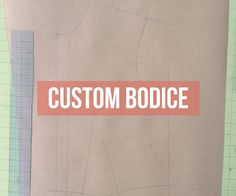 If you are interested in making clothing tailored to your body, learning how to draft a set of custom fitting pattern blocks is a must! If it seems like it is to confusing and should be left to the professionals, I'm here to tell you...it's not that hard! Read on to learn the six simple steps to make your very own, tailor made bodice block!