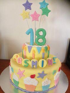 Jasmines 18th Birthday Cake