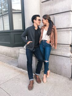 casual menswear outfit ideas for fall // couple style // boston blogger