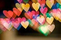 lovely colorful hearts