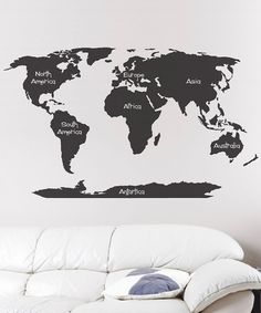 Take a look at this Black World Map Wall Decal by Sissy Little on #zulily today!