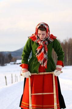 Costume from above Lake Siljan Mora Sweden