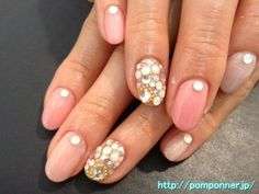 Simple nail pink that changed the tone of color