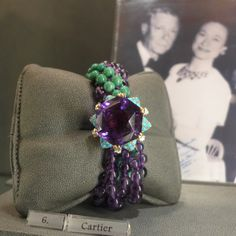 The Duchess of Windsor's Cartier amethyst and turquoise torsade bracelet (Hancocks)