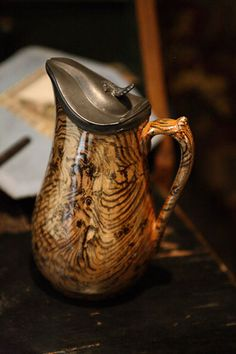 19th century covered pitcher...love this