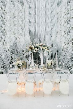 The Ice Queen: Winter Wedding Wonderland Inspiration - WedLuxe Magazine Cheap Wedding Venues, Wedding Events, Wedding Reception, Themed Weddings, Budget Wedding, Wedding Bells, Luxury Wedding, Dream Wedding, Queens Wedding