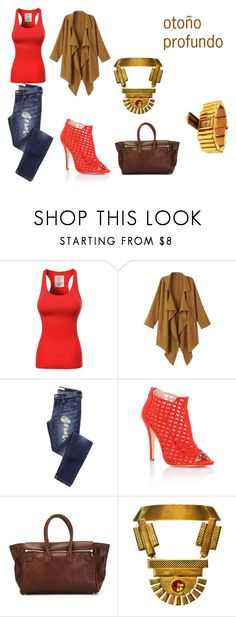 """""""otoño profundo"""" by jenlen1 ❤ liked on Polyvore featuring Lipsy, Golden Goose, Bita Pourtavoosi, Zodiac, women's clothing, women, female, woman, misses and juniors                                                                                                                                                     Más"""
