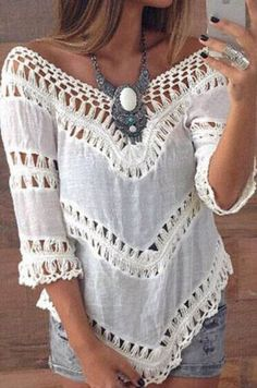 This blouse dripping in romantic detailing,it covers both of our top priorities: comfort and style. Get in touch with your girly side in this and find it at OASAP!