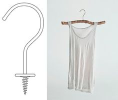DIY hangers au naturel...that would be awesome for me for being one handed!
