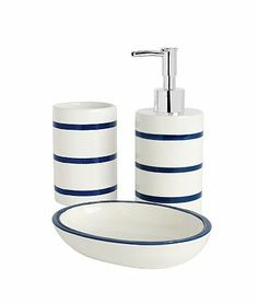 Asda Bathroom Range Navy Stripe Accessories Direct For Our Nautical