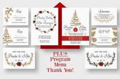Winter Wedding Suite by Knotted Design on Creative Market