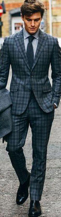 mens checkered plaid suit #menweddingsuits