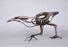 heracliteanfire: Dog Chain Bittern (via Harriet Mead | Harriet Mead, Sculptor)