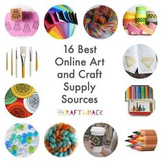15 Super Places to Buy Art and Craft Supplies Online! · Craftwhack - Awesome places to buy art and craft supplies online - Cheap Craft Supplies, Craft Supplies Online, Arts And Crafts Supplies, Art Supplies, Scrapbook Supplies, Jewelry Supplies, Scrapbooking, Wholesale Crafts, Wholesale Craft Supplies