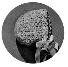 Sunshine's Creations.Vintage Threads Inc.: New bonnet 3-6 mos