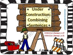 Under Construction: Combining Sentences from Sunsational~in~Second Grade on TeachersNotebook.com -  (17 pages)  - This product contains 10 task cards with multiple choice answers. Students will read the sentences and choose the best way to combine them.