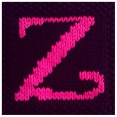 PDF Knitting pattern capital letter Z afghan / by FionaKelly