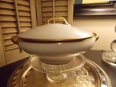 Vintage CASSEROLE LIMOGES China with Cover by VintageCreativeAccen