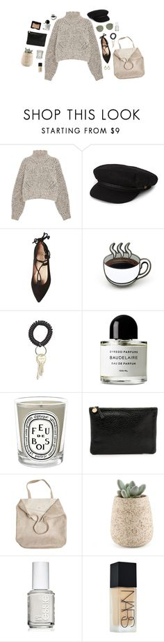 """""""coffee date"""" by yetthisonecounts ❤ liked on Polyvore featuring Isabel Marant, Brixton, French Sole FS/NY, Amy Winehouse, PINTRILL, Byredo, Diptyque, NARS Cosmetics, Clare V. and Monserat De Lucca"""