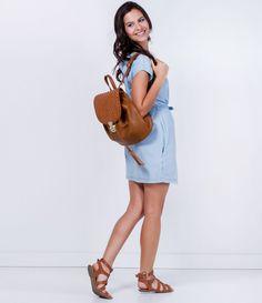 Vestido feminino  Manga curta  Com bordado  Marca: Marfinno  Tecido: jeans  Composição: 100% algodão  Modelo veste tamanho: P           COLEÇÃO VERÃO 2016         Veja outras opções de    vestidos femininos.