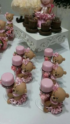 X Clay Bear, Baby Shawer, Bear Party, Miniature Figurines, Candy Bags, Pasta Flexible, Cold Porcelain, Cute Cakes, Christmas Candy