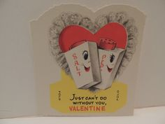 Vintage Valentine Card Anthropomorphic Set of Salt Pepper Shakers Unused 50'S | eBay