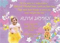 Printable Tinker Bell Photo Birthday Invitations