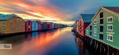 Photograph Trondheim Nidelva and Brygga by Aziz Nasuti on 500px
