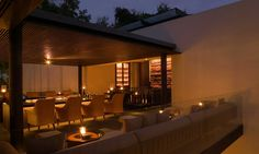 Gather with close friends and colleagues at The Terrace Bar & Cigar Lounge at The Chedi Chiang Mai
