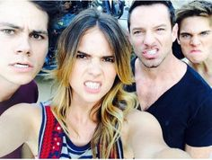 Four of the Teen wolf cast getting their growly face on