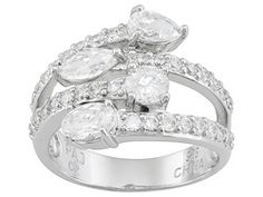 Bella Luce(R) 3.59ctw Rhodium Plated Sterling Silver Ring