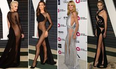 The Oscars after-parties are a different affair altogether to the awards ceremony, with celebrities trying their best to grab the limelight in revealing dresses and no underwear.