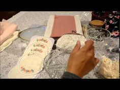 gift tags and altered tissue box to store cards - YouTube