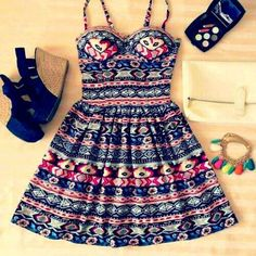 Cute dress with accessories