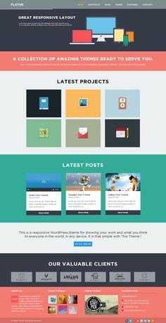 Flathe  Flat Design WordPress Theme