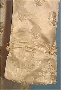 c. 1810-1815 MUSEUM Figured Silk Empire Gown!