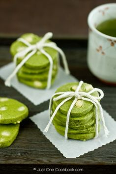 Green Tea & White Chocolate Cookies Recipe - A Japanese Twist on St. Patty's Day Dessert by celina.neo