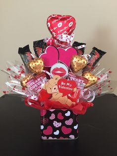 Valentine's Candy Bouquet! Bouquets for him or her! Different sizes, different price range!